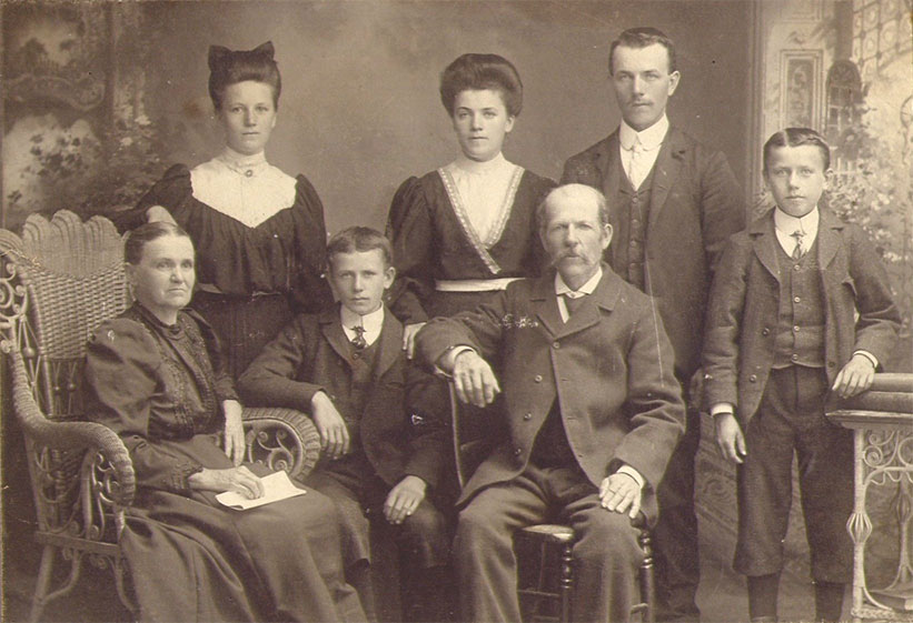 Family of Achille Lepage and Mathilde St-Laurent